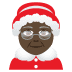 🤶🏿 Mrs. Claus: dark skin tone Emoji on Joypixels Platform