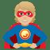 🦸🏼 superhero: medium-light skin tone Emoji on Joypixels Platform