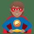 🦸🏽 superhero: medium skin tone Emoji on Joypixels Platform