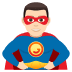 🦸🏻‍♂️ man superhero: light skin tone Emoji on Joypixels Platform