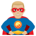 🦸🏼‍♂️ man superhero: medium-light skin tone Emoji on Joypixels Platform