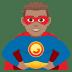 🦸🏽♂️ man superhero: medium skin tone Emoji on Joypixels Platform