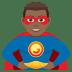 🦸🏾♂️ man superhero: medium-dark skin tone Emoji on Joypixels Platform