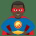 🦸🏿♂️ man superhero: dark skin tone Emoji on Joypixels Platform