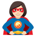 🦸🏻‍♀️ woman superhero: light skin tone Emoji on Joypixels Platform