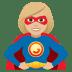 🦸🏼♀️ woman superhero: medium-light skin tone Emoji on Joypixels Platform