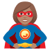 🦸🏽♀️ woman superhero: medium skin tone Emoji on Joypixels Platform