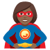 🦸🏾‍♀️ woman superhero: medium-dark skin tone Emoji on Joypixels Platform