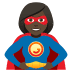 🦸🏿‍♀️ woman superhero: dark skin tone Emoji on Joypixels Platform