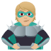 🦹🏼 supervillain: medium-light skin tone Emoji on Joypixels Platform