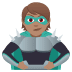 🦹🏽 supervillain: medium skin tone Emoji on Joypixels Platform