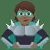 🦹🏾 supervillain: medium-dark skin tone Emoji on Joypixels Platform