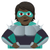 🦹🏿 supervillain: dark skin tone Emoji on Joypixels Platform