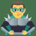 🦹♂️ man supervillain Emoji on Joypixels Platform