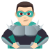 🦹🏻‍♂️ man supervillain: light skin tone Emoji on Joypixels Platform