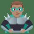 🦹🏽♂️ man supervillain: medium skin tone Emoji on Joypixels Platform