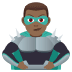 🦹🏾‍♂️ man supervillain: medium-dark skin tone Emoji on Joypixels Platform