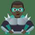 🦹🏿♂️ man supervillain: dark skin tone Emoji on Joypixels Platform