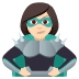 🦹🏻♀️ woman supervillain: light skin tone Emoji on Joypixels Platform