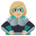 🦹🏼‍♀️ woman supervillain: medium-light skin tone Emoji on Joypixels Platform