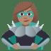 🦹🏽♀️ woman supervillain: medium skin tone Emoji on Joypixels Platform