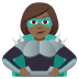 🦹🏾‍♀️ woman supervillain: medium-dark skin tone Emoji on Joypixels Platform