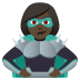 🦹🏿‍♀️ woman supervillain: dark skin tone Emoji on Joypixels Platform