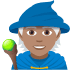 🧙🏽 Medium Skin Tone Mage Emoji on JoyPixels Platform
