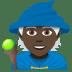 🧙🏿 Dark Skin Tone Mage Emoji on JoyPixels Platform