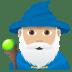 🧙🏼♂️ man mage: medium-light skin tone Emoji on Joypixels Platform