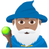 🧙🏽‍♂️ man mage: medium skin tone Emoji on Joypixels Platform