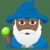 🧙🏾♂️ man mage: medium-dark skin tone Emoji on Joypixels Platform