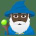 🧙🏿♂️ man mage: dark skin tone Emoji on Joypixels Platform