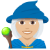 🧙🏼‍♀️ woman mage: medium-light skin tone Emoji on Joypixels Platform