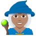 🧙🏽‍♀️ Medium Skin Tone Female Mage Emoji on JoyPixels Platform