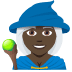 🧙🏿‍♀️ woman mage: dark skin tone Emoji on Joypixels Platform