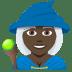 🧙🏿♀️ woman mage: dark skin tone Emoji on Joypixels Platform