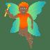 🧚🏾 fairy: medium-dark skin tone Emoji on Joypixels Platform