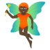 🧚🏿 fairy: dark skin tone Emoji on Joypixels Platform