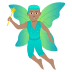 🧚🏽‍♂️ man fairy: medium skin tone Emoji on Joypixels Platform