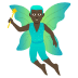 🧚🏿‍♂️ man fairy: dark skin tone Emoji on Joypixels Platform