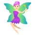 🧚🏻♀️ woman fairy: light skin tone Emoji on Joypixels Platform