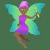 🧚🏾♀️ woman fairy: medium-dark skin tone Emoji on Joypixels Platform