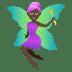 🧚🏿♀️ woman fairy: dark skin tone Emoji on Joypixels Platform