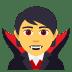 🧛 vampire Emoji on Joypixels Platform
