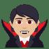 🧛🏼 vampire: medium-light skin tone Emoji on Joypixels Platform
