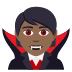 🧛🏾 vampire: medium-dark skin tone Emoji on Joypixels Platform