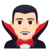 🧛🏻‍♂️ man vampire: light skin tone Emoji on Joypixels Platform