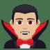 🧛🏼♂️ man vampire: medium-light skin tone Emoji on Joypixels Platform