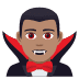🧛🏽‍♂️ man vampire: medium skin tone Emoji on Joypixels Platform